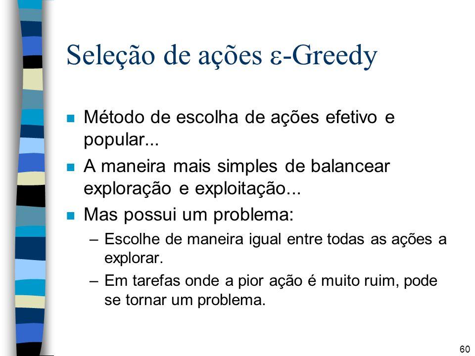 Seleção de ações -Greedy
