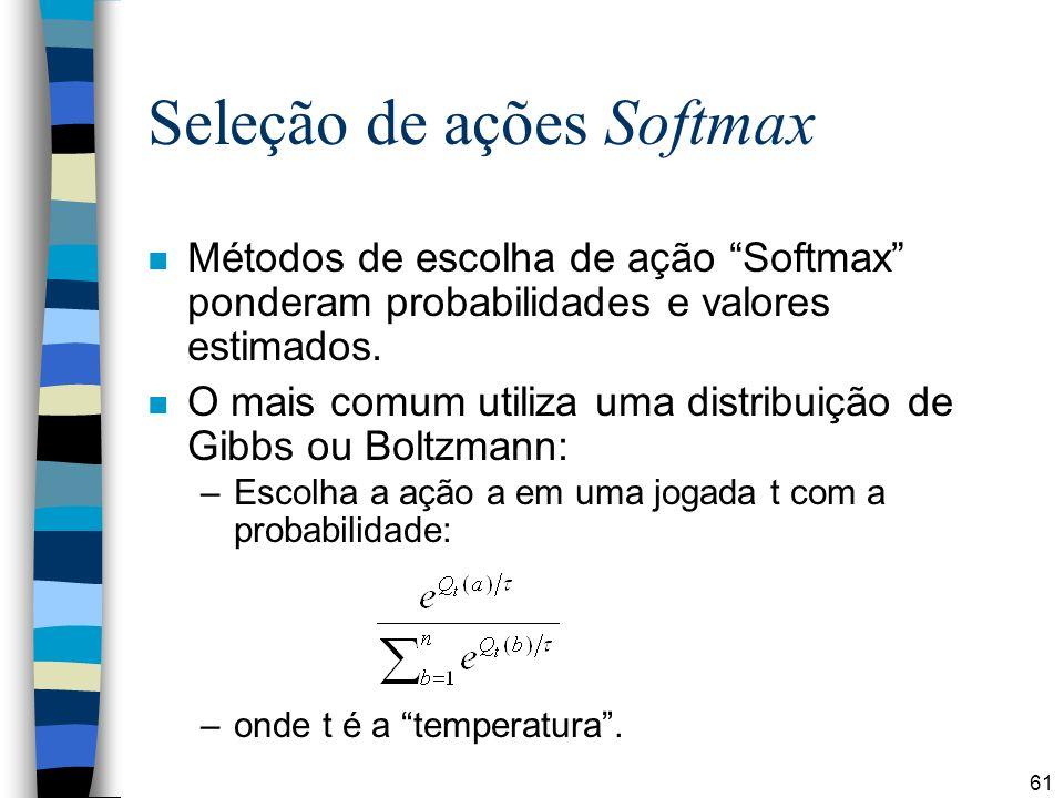 Seleção de ações Softmax