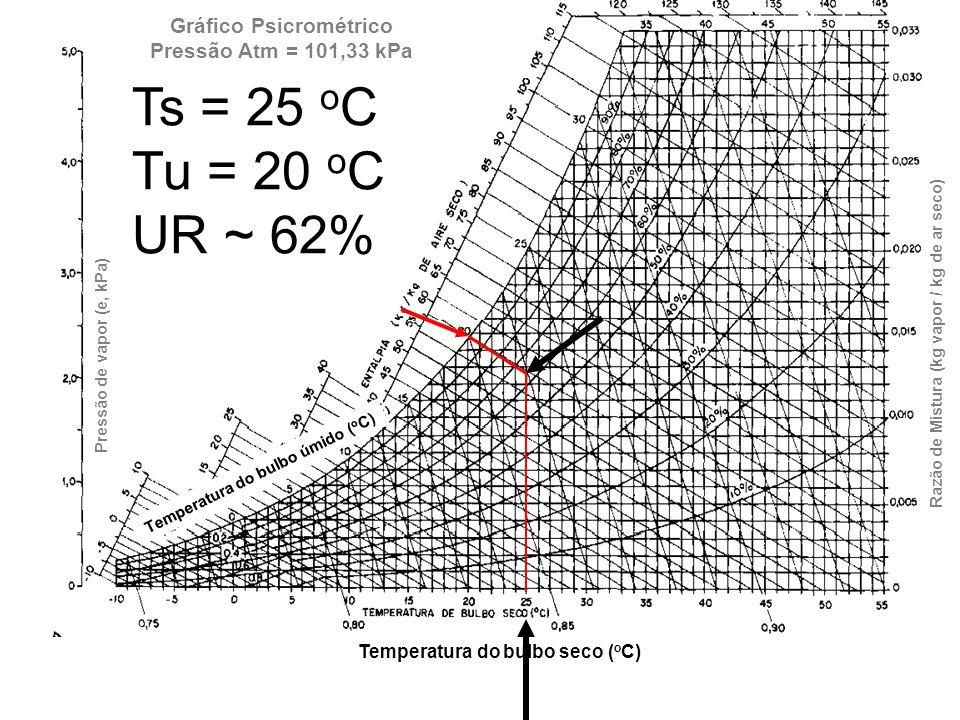 Gráfico Psicrométrico Pressão Atm = 101,33 kPa
