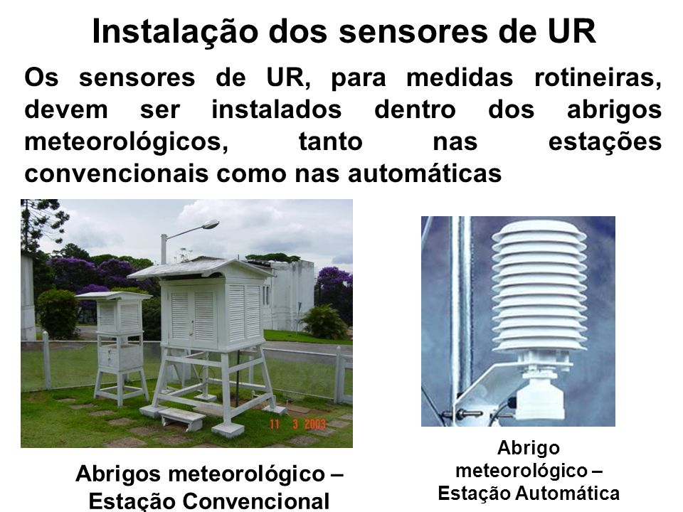 Instalação dos sensores de UR