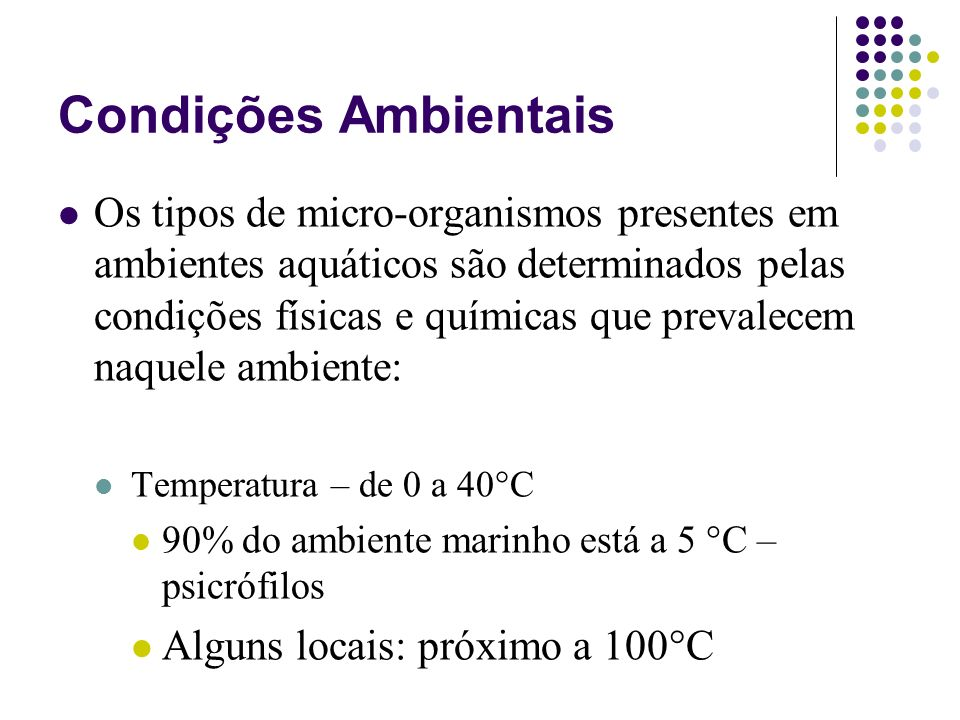 Condições Ambientais
