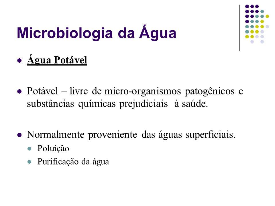 Microbiologia da Água Água Potável