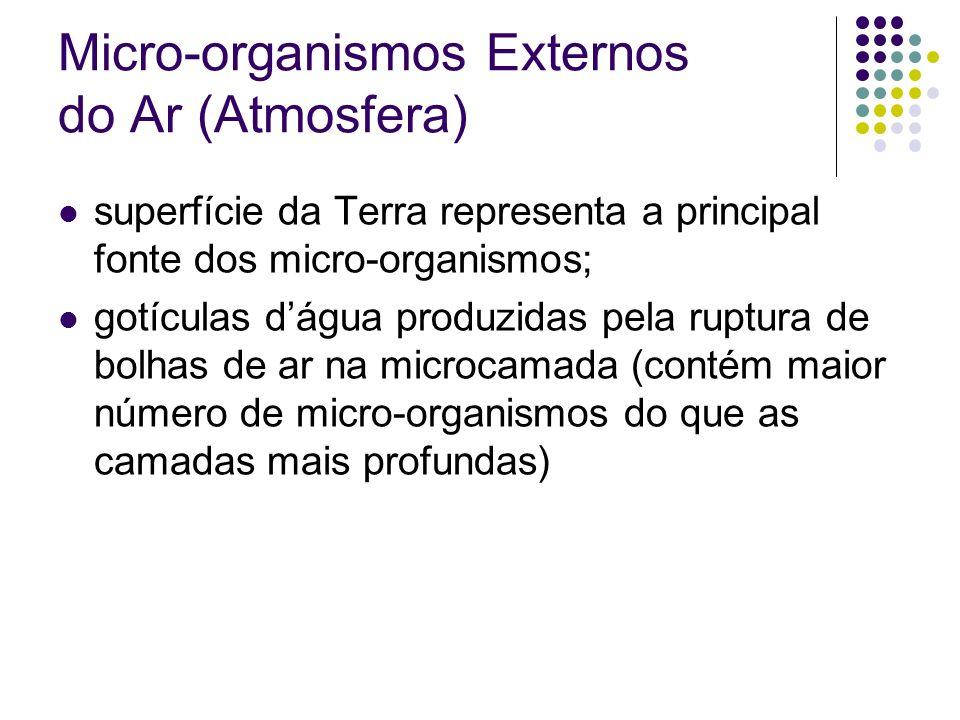 Micro-organismos Externos do Ar (Atmosfera)