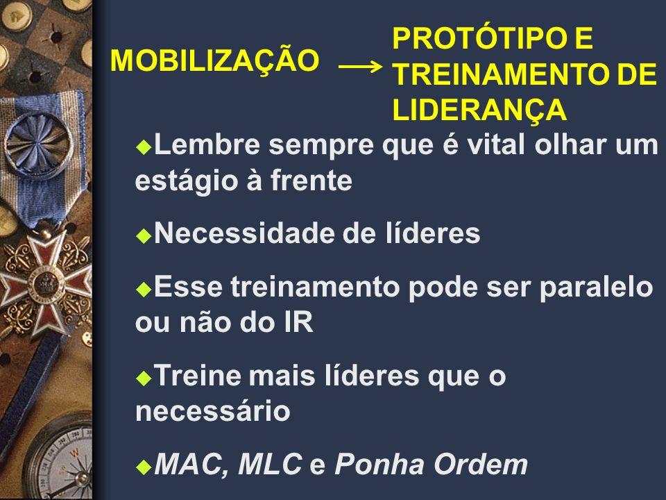 PROTÓTIPO E TREINAMENTO DE LIDERANÇA