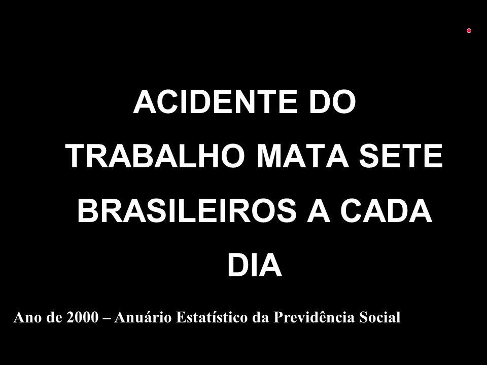 ACIDENTE DO TRABALHO MATA SETE BRASILEIROS A CADA DIA