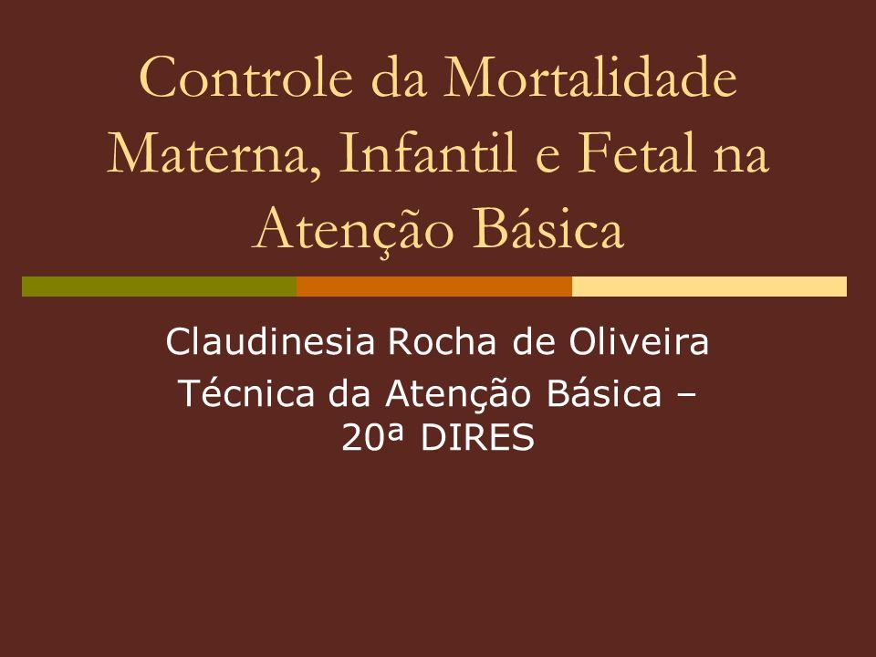 Controle da Mortalidade Materna, Infantil e Fetal na Atenção Básica