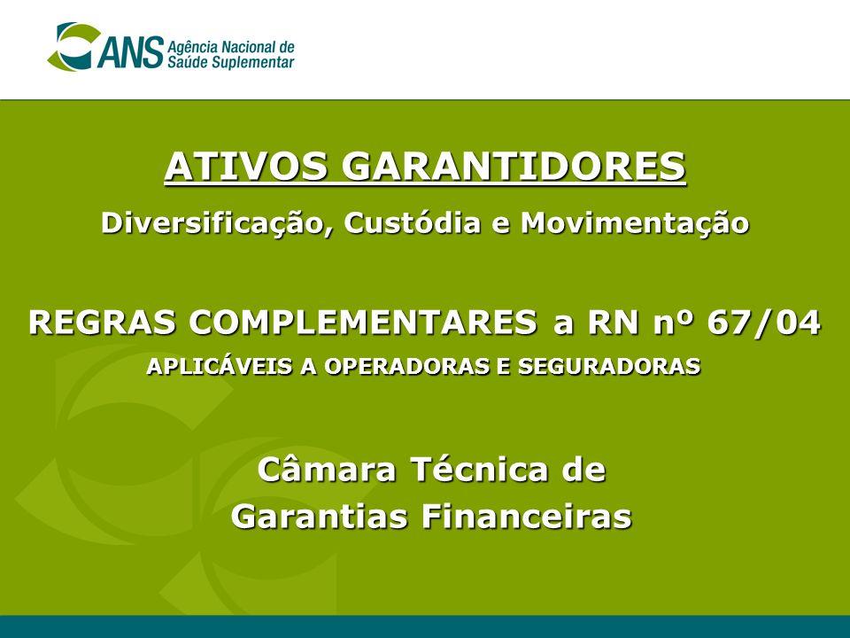 ATIVOS GARANTIDORES REGRAS COMPLEMENTARES a RN nº 67/04