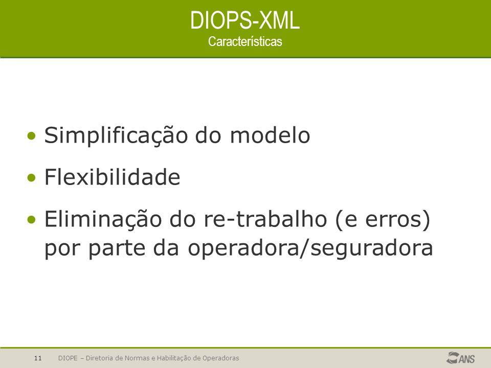 DIOPS-XML Características