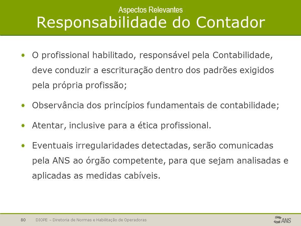 Aspectos Relevantes Responsabilidade do Contador