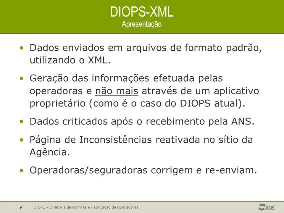 DIOPS-XML Apresentação