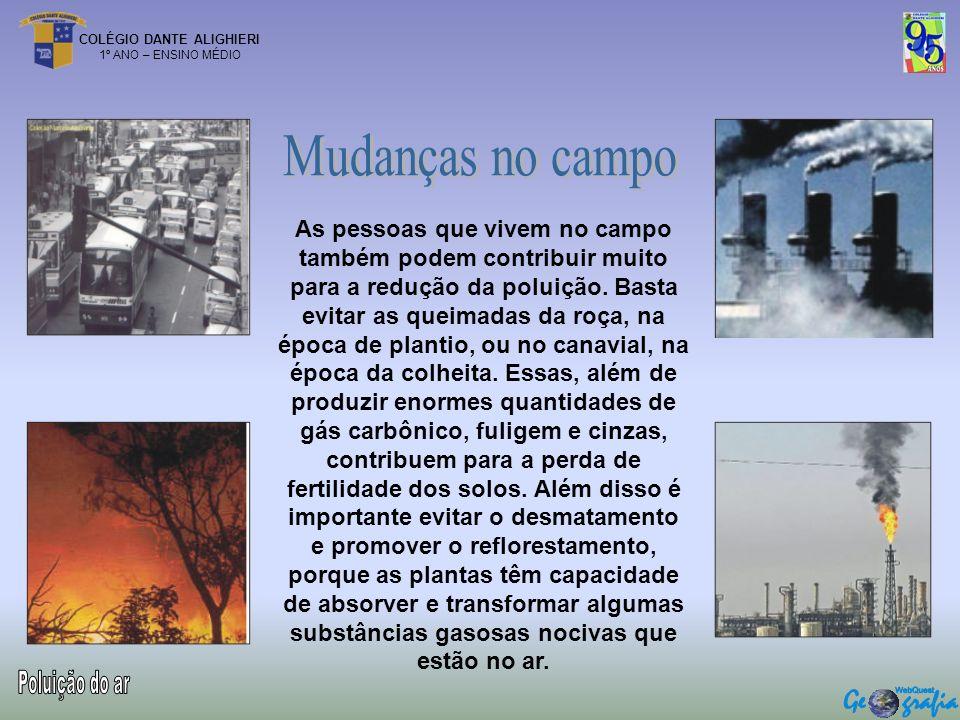 Mudanças no campo Poluição do ar