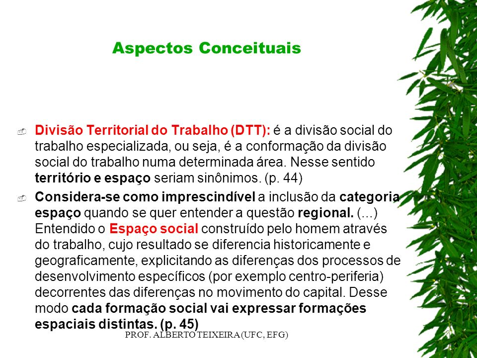 PROF. ALBERTO TEIXEIRA (UFC, EFG)