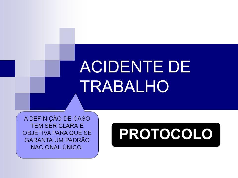 ACIDENTE DE TRABALHO PROTOCOLO