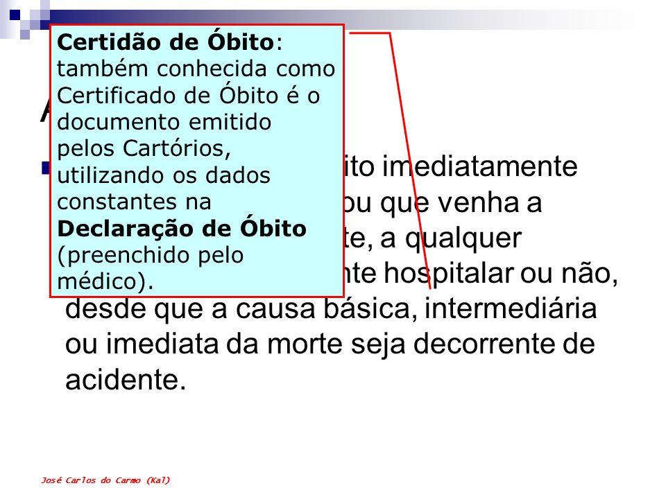 Certidão de Óbito: também conhecida como Certificado de Óbito é o documento emitido pelos Cartórios, utilizando os dados constantes na Declaração de Óbito (preenchido pelo médico).
