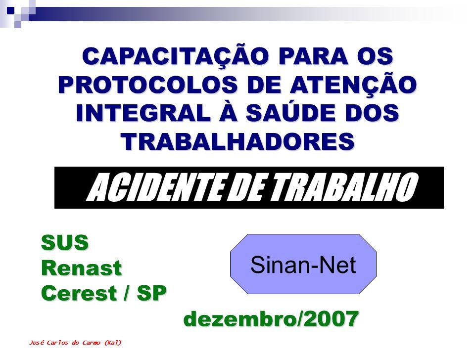 SUS Renast Cerest / SP dezembro/2007