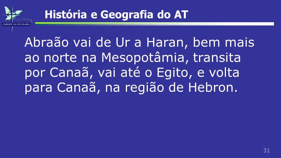 História e Geografia do AT