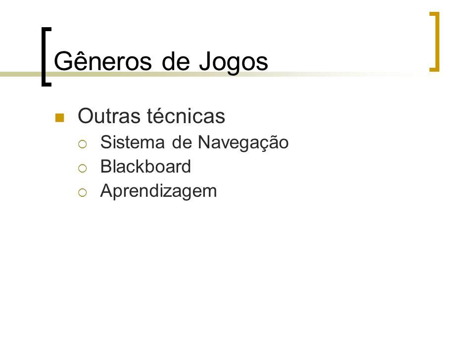 Gêneros de Jogos Outras técnicas Sistema de Navegação Blackboard