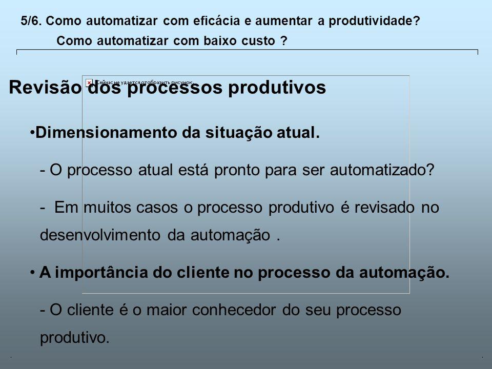 Revisão dos processos produtivos