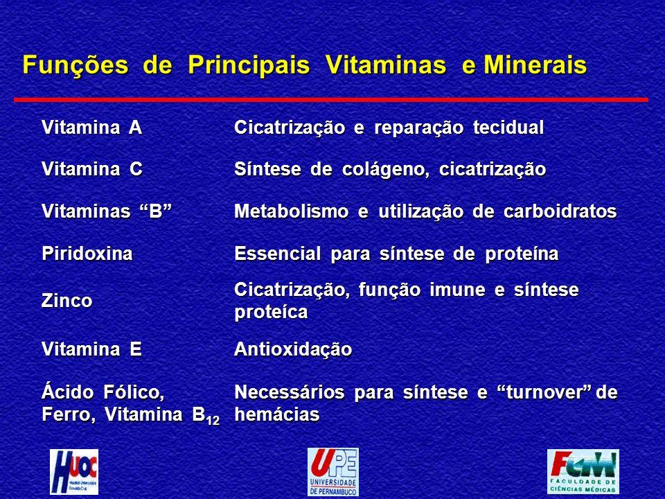 Funções de Principais Vitaminas e Minerais