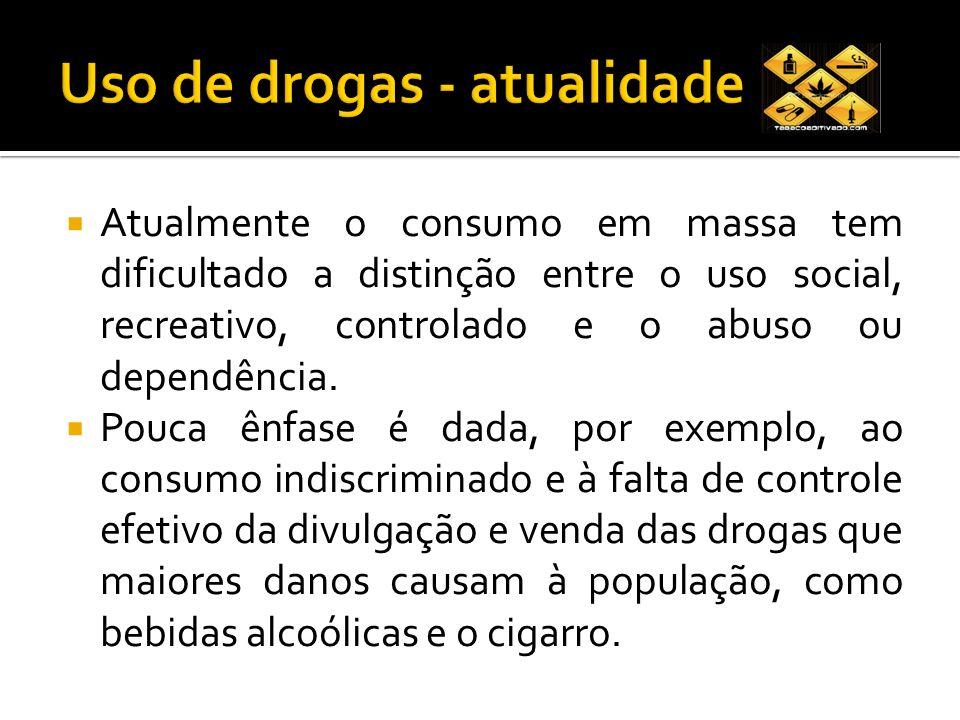 Uso de drogas - atualidade