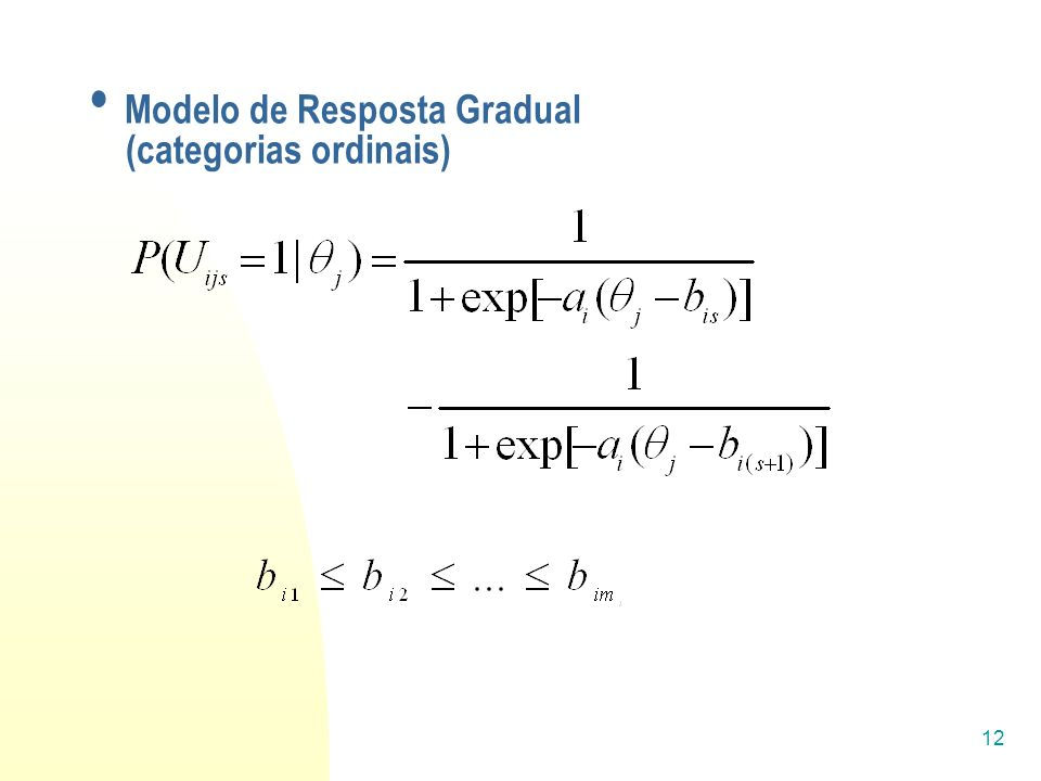 Modelo de Resposta Gradual (categorias ordinais)