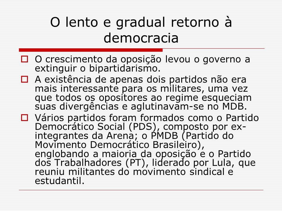 O lento e gradual retorno à democracia