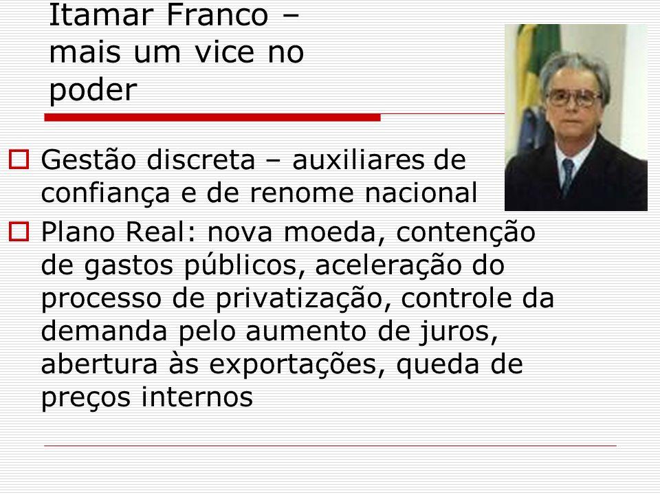 Itamar Franco – mais um vice no poder