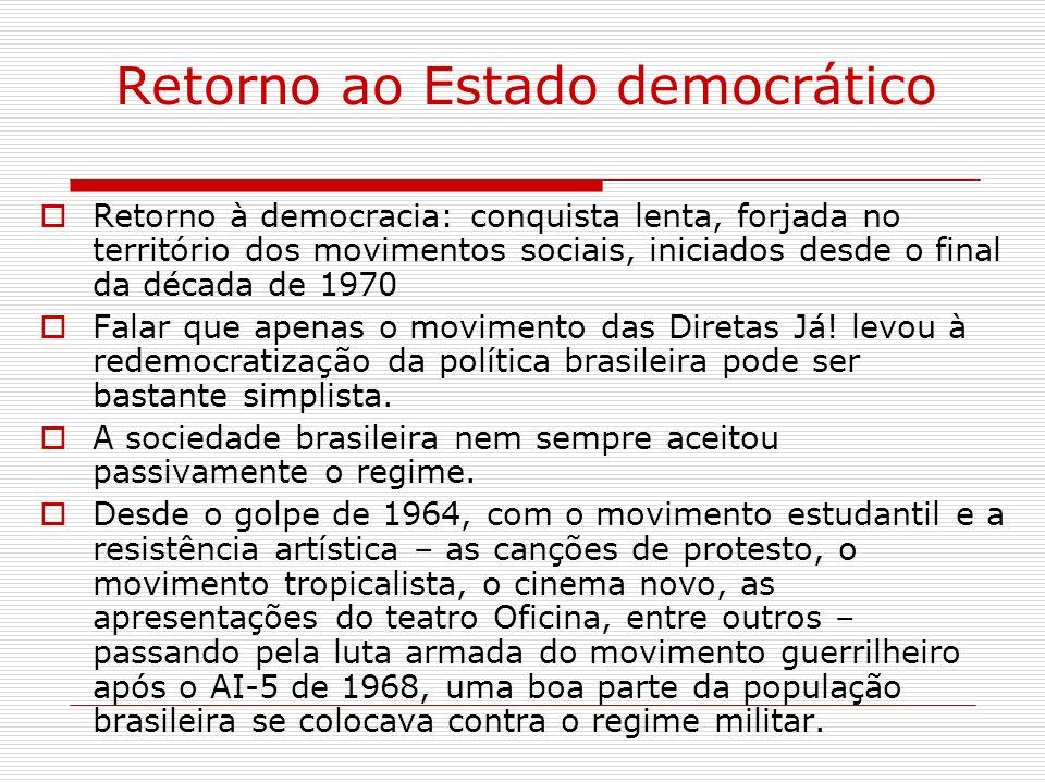 Retorno ao Estado democrático