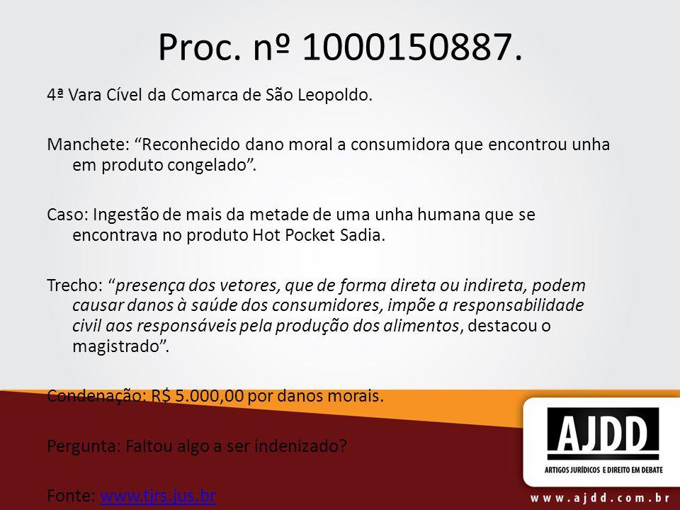 Proc. nº 1000150887. 4ª Vara Cível da Comarca de São Leopoldo.