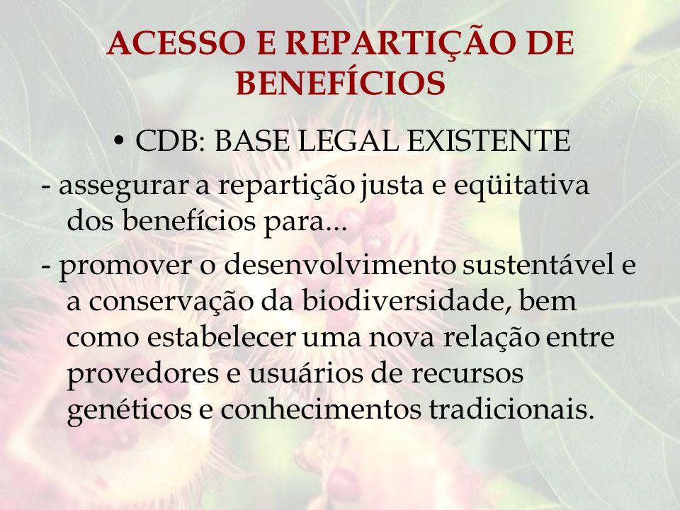 ACESSO E REPARTIÇÃO DE BENEFÍCIOS