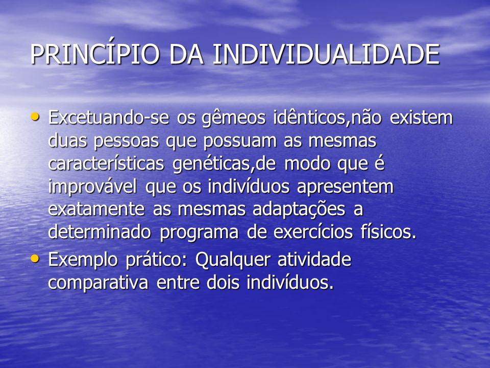 PRINCÍPIO DA INDIVIDUALIDADE