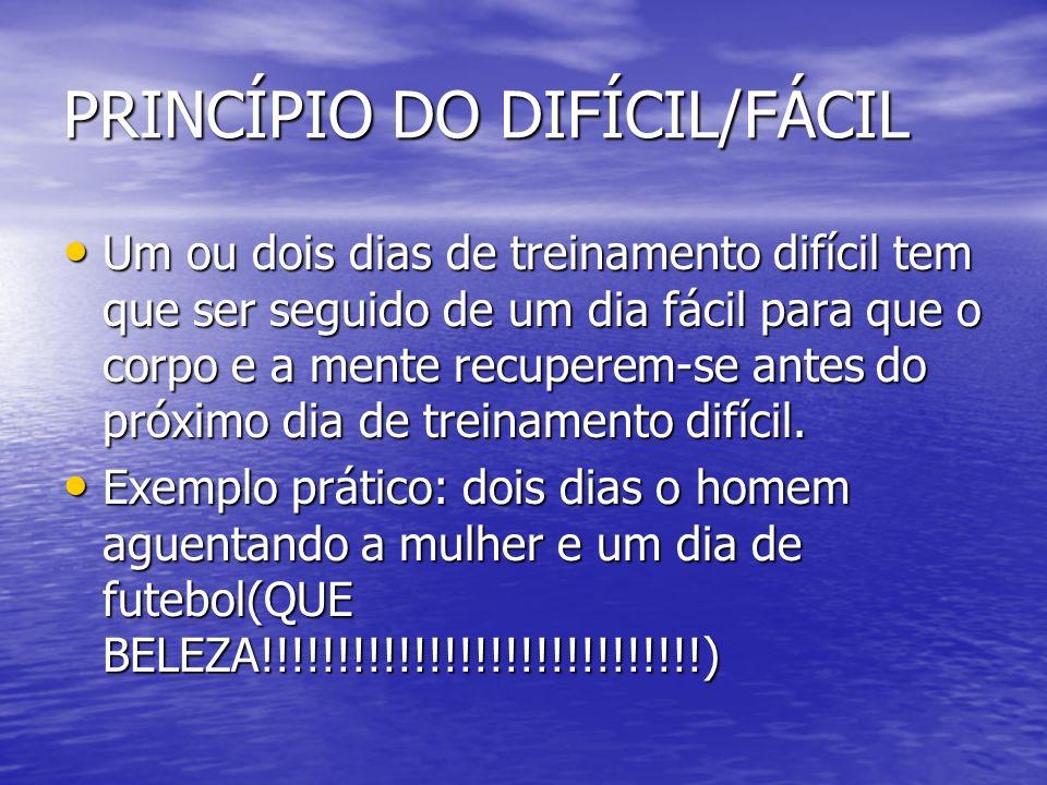 PRINCÍPIO DO DIFÍCIL/FÁCIL