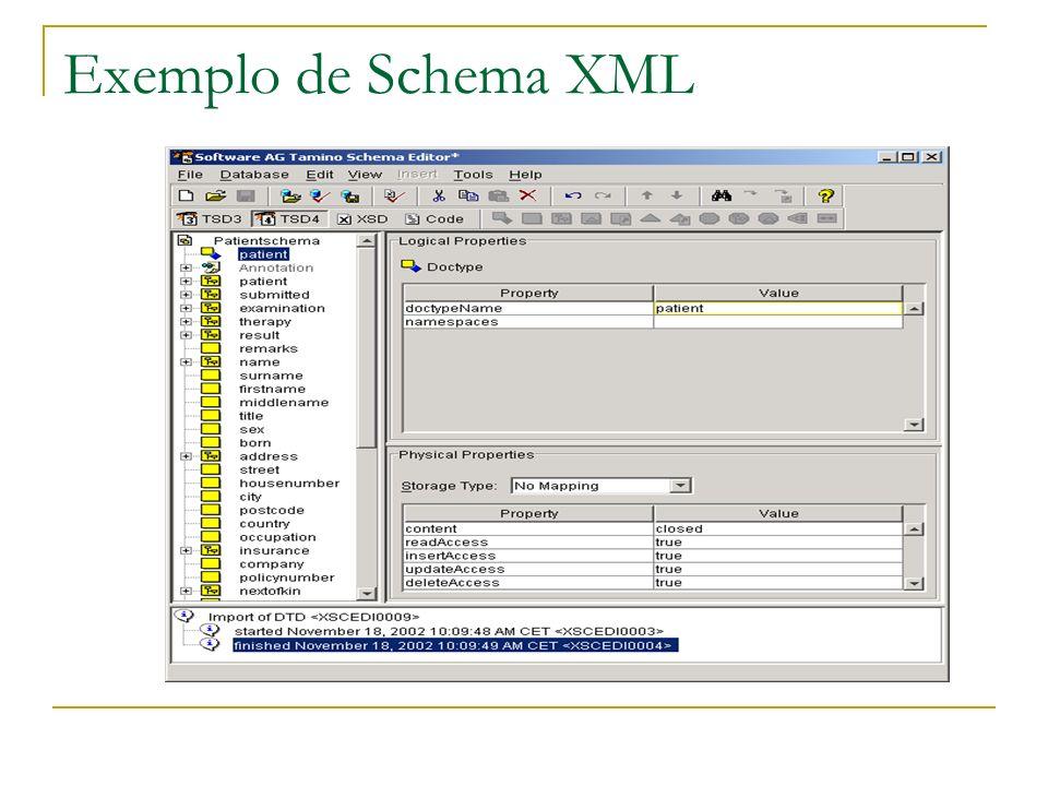 Exemplo de Schema XML
