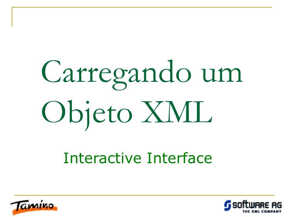Carregando um Objeto XML