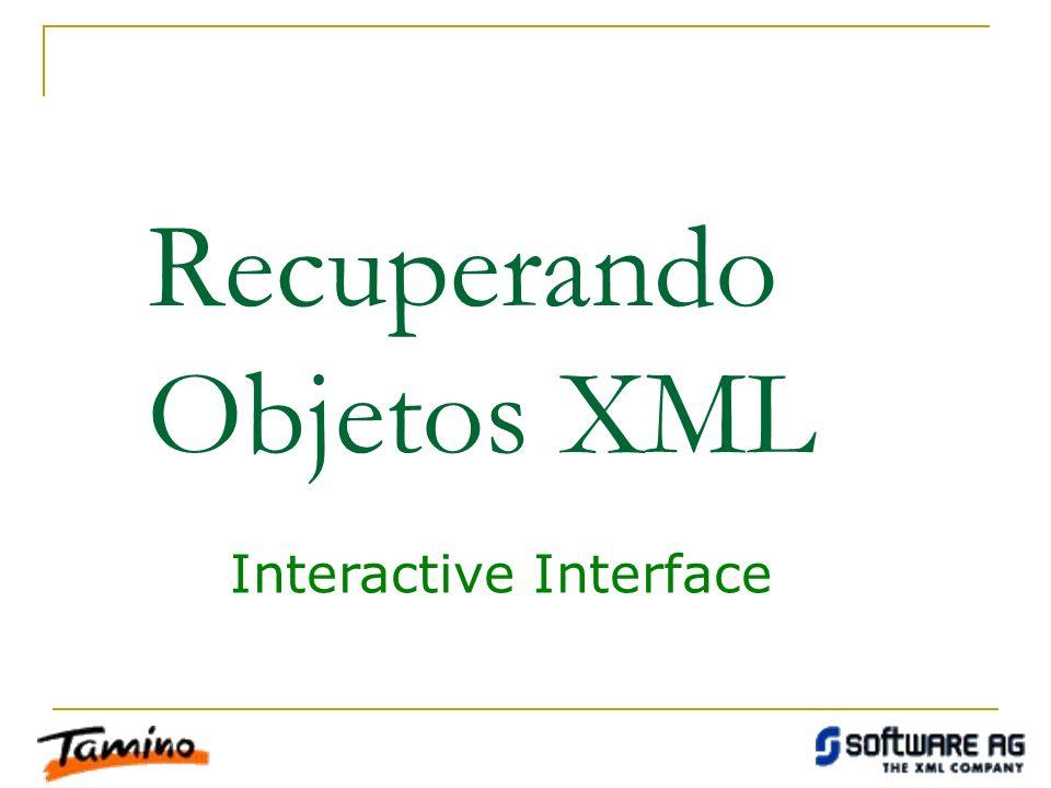 Recuperando Objetos XML