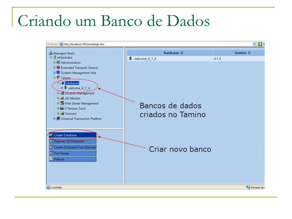 Criando um Banco de Dados