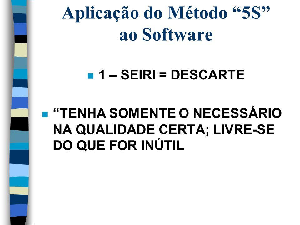Aplicação do Método 5S ao Software