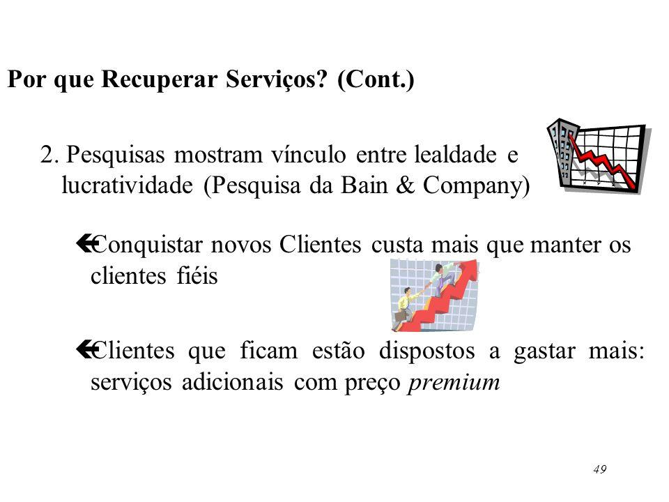 Por que Recuperar Serviços (Cont.)