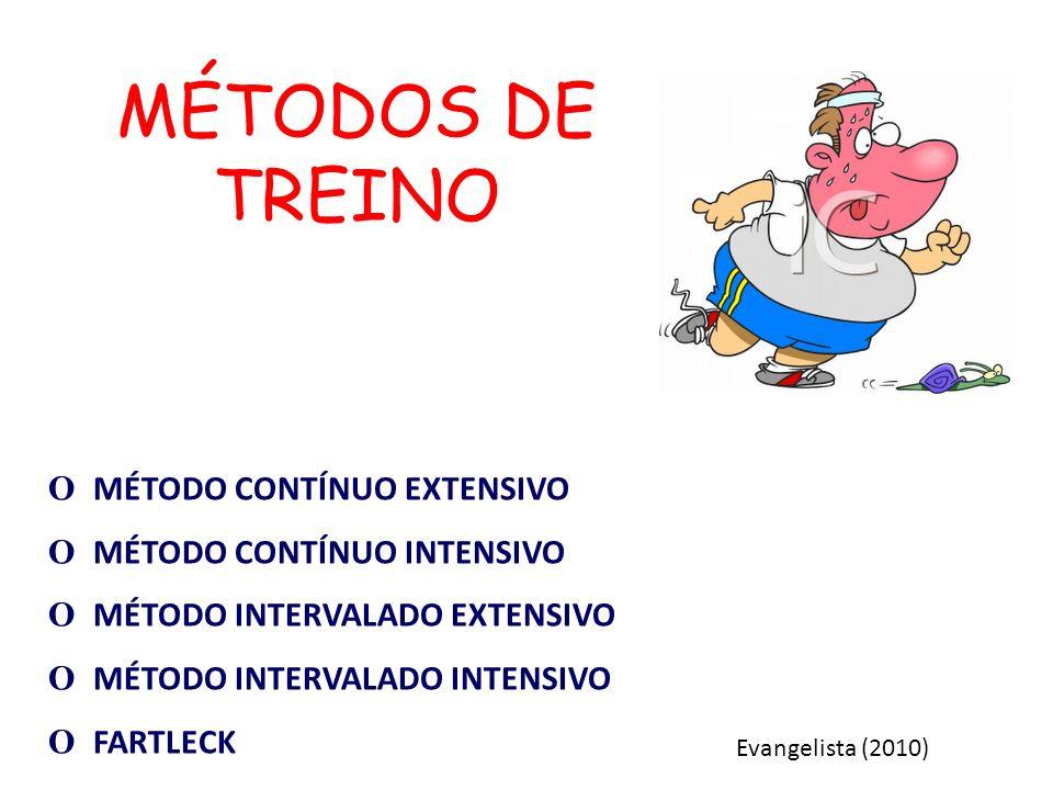 MÉTODOS DE TREINO О MÉTODO CONTÍNUO EXTENSIVO
