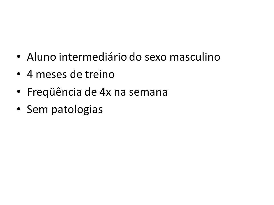 ESTUDO DE CASO II Aluno intermediário do sexo masculino