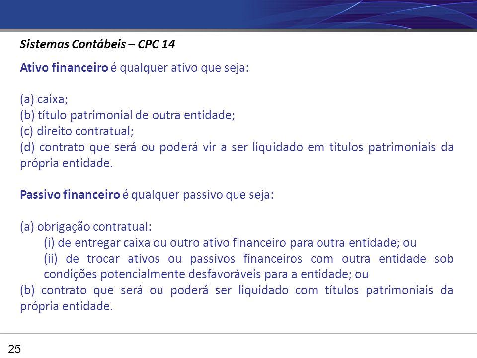 Sistemas Contábeis – CPC 14