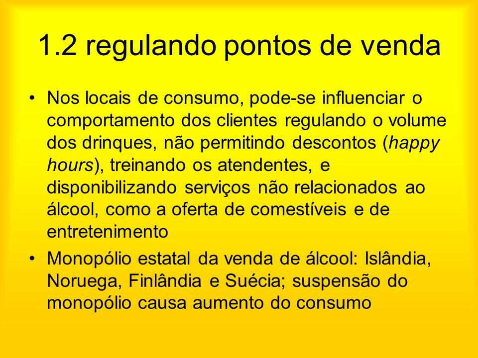 1.2 regulando pontos de venda