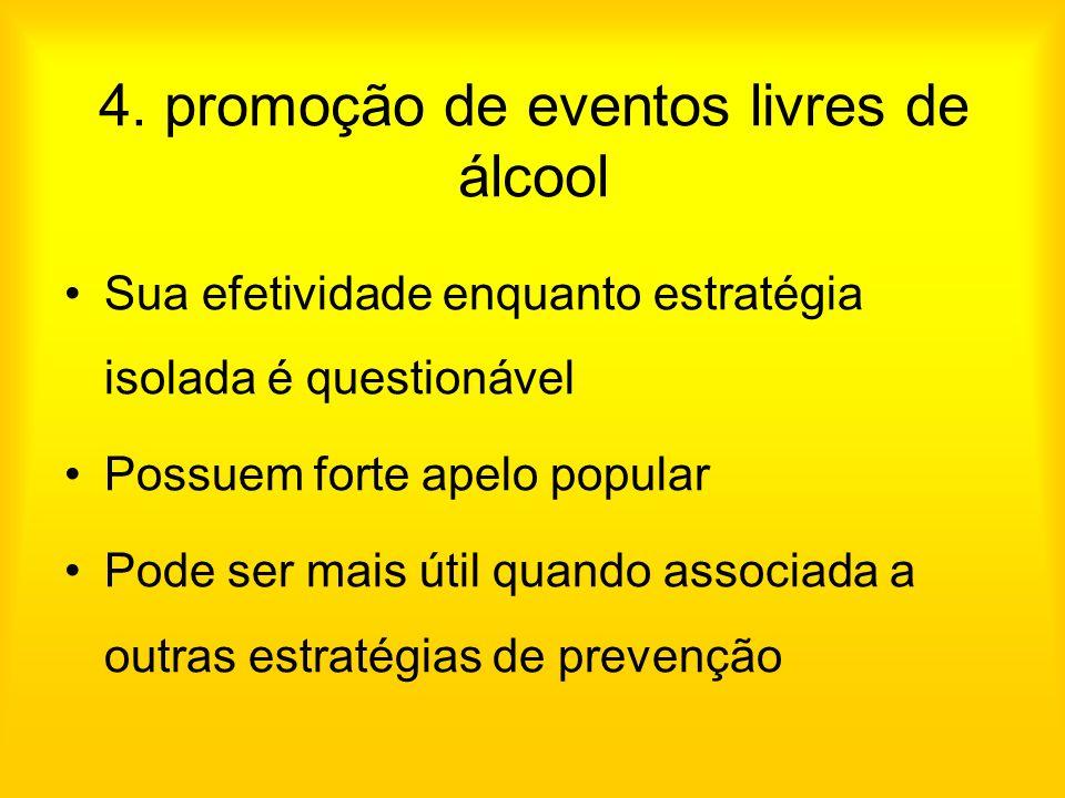 4. promoção de eventos livres de álcool
