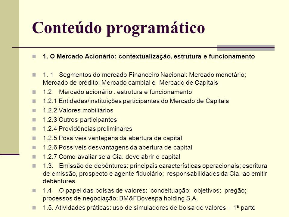 Conteúdo programático