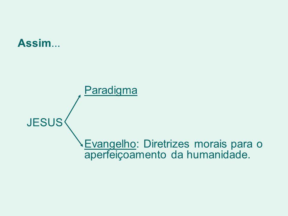 Evangelho: Diretrizes morais para o aperfeiçoamento da humanidade.