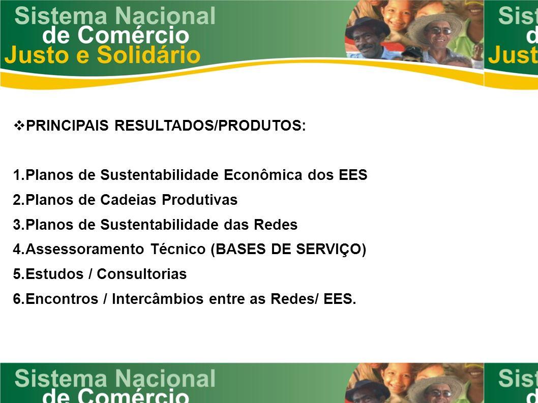 PRINCIPAIS RESULTADOS/PRODUTOS: