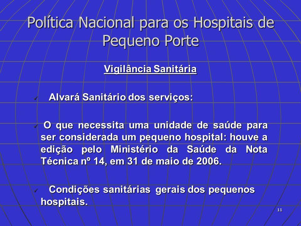 Política Nacional para os Hospitais de Pequeno Porte
