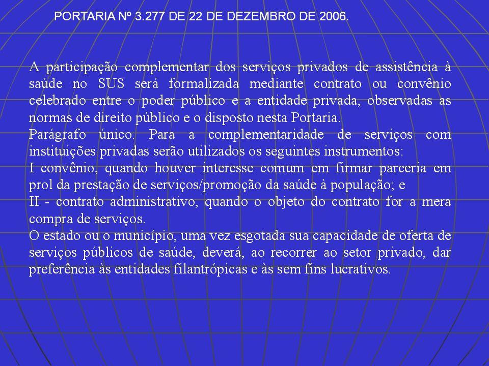 PORTARIA Nº 3.277 DE 22 DE DEZEMBRO DE 2006.