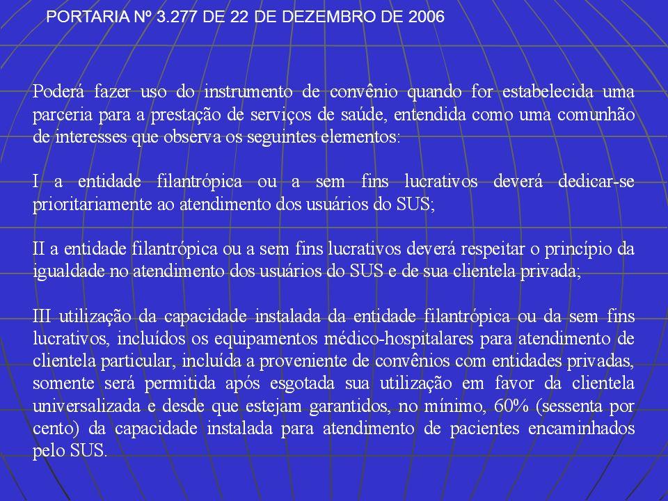 PORTARIA Nº 3.277 DE 22 DE DEZEMBRO DE 2006