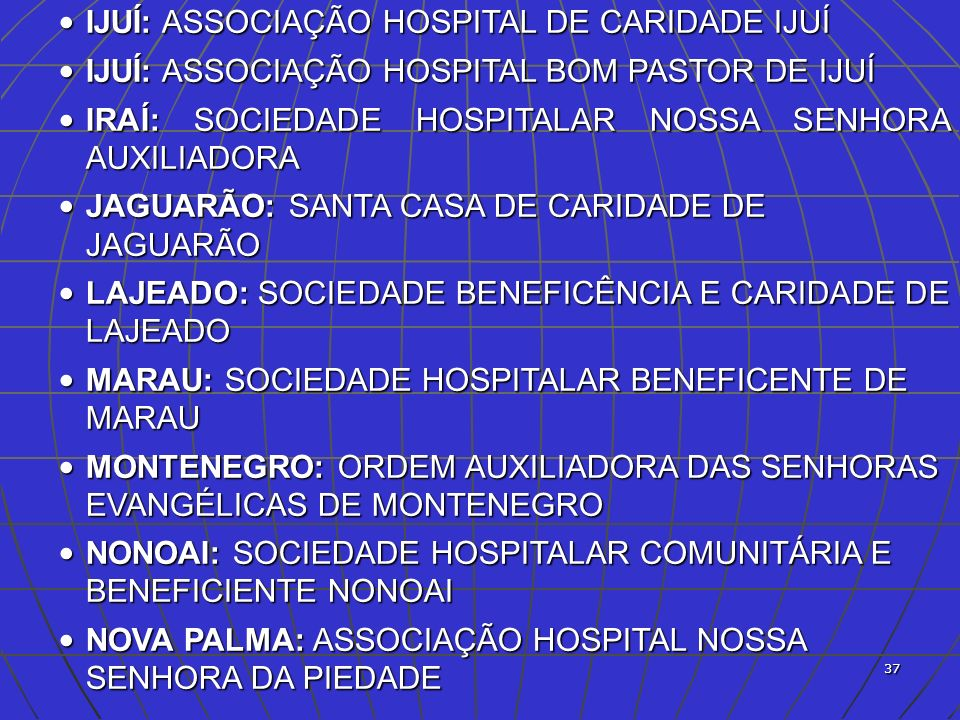 IJUÍ: ASSOCIAÇÃO HOSPITAL DE CARIDADE IJUÍ